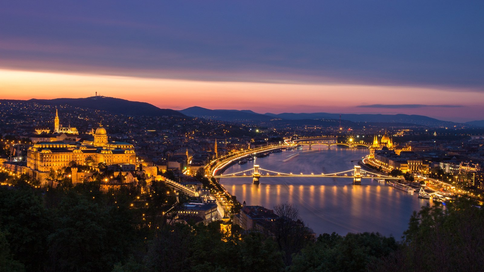 Budapest things to do view from Gellert hill