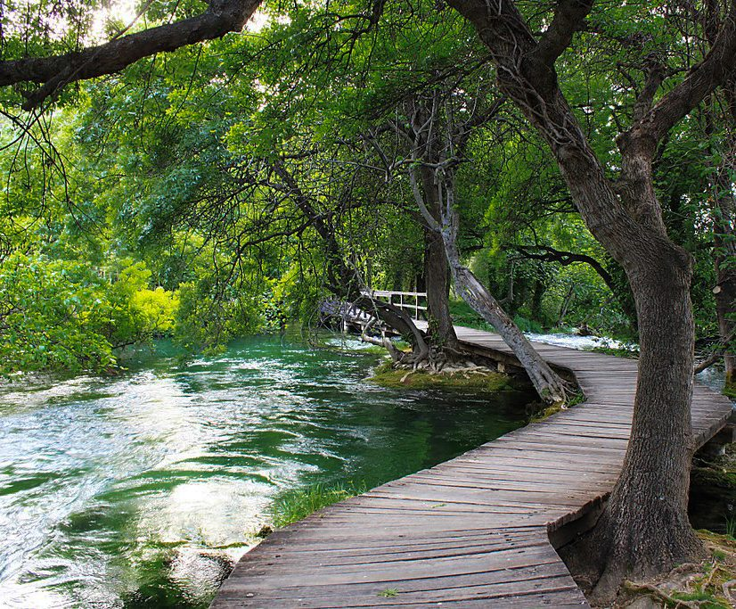walking trail at krka national park