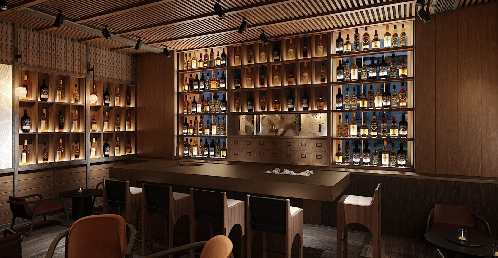 whisky bar at the prince akatoki